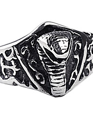 preiswerte -persönliches Geschenk modischen Edelstahl-Schmuck Herren-Ring eingraviert