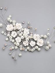 cristal imitação de pérolas de liga de liga de flores estilo feminino clássico