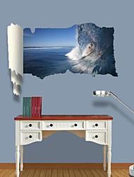 baratos -Paisagem Pessoas Moda Lazer Adesivos de Parede Autocolantes 3D para Parede Autocolantes de Parede Decorativos, Vinil Decoração para casa