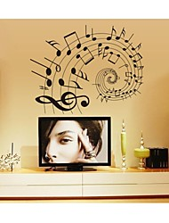 cheap -Shapes Cartoon Music Wall Stickers Plane Wall Stickers Decorative Wall Stickers, PVC Home Decoration Wall Decal Wall