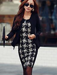Leto ženska povremeni kontrast boja haljina