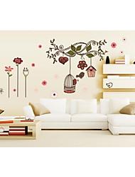 economico -murali Stickers adesivi murali, wall stickers stile gabbia pvc uccelli