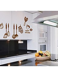 Wall Stickers Wall Decals, Style Cartoon Kitchen Utensils PVC Wall Stickers