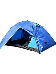 Недорогие -3-4 человека Световой тент Двойная Палатка Влагонепроницаемый Хорошая вентиляция Водонепроницаемость С защитой от ветра