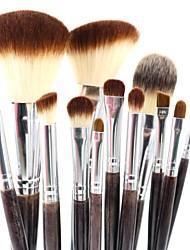 12pcs Makeup Brushes set Professional Violet blush/powder/foundation/concealer brush shadow/eyeliner/eyelash/brow/lip brush cosmetic brush kit