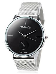 orologio grande acciaio quadrante guartz cinghia di polso moda femminile (colori assortiti)