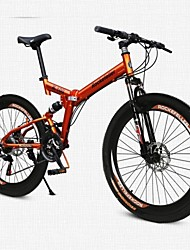 Mountain Bike Folding Bike Cycling 21 Speed 26 Inch/700CC SHINING SYS Double Disc Brake Air Suspension Fork Aluminium Alloy Frame