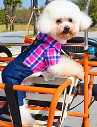 cheap -Dog Costume Jumpsuit Dog Clothes Cosplay Casual/Daily Jeans Rose Green Costume For Pets
