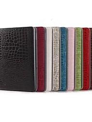 preiswerte -iPad Air 2 - Smart-Covers/Folio Cases (PU Leder , Rot/Schwarz/Weiß/Grün/Blau/Braun/Rosa/Beige/Dunkelrot) - Einfarbig/Krokodilhaut Muster