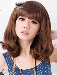 cheap -angelaicos women fashion super model style sexy glamour nightclub party costume hair bob wigs medium brown black