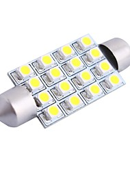 cheap -GC® 42mm 4W 200LM 6000K 16x3528 SMD White LED for Car Reading / License Plate / Door Lamp (DC12V)