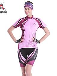 Mysenlan Fahrradtriktot mit Fahrradhosen Damen Kurzarm Fahhrad Armlinge Trikot/Radtrikot Shorts/Laufshorts Kleidungs-Sets Rasche
