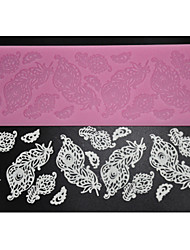 cheap -FOUR-C Decorating Supplies Silicone Baking Mat Sugar Lace Mold for Design,Silicone Mat Fondant Cake Tools Color Pink
