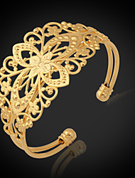 cheap -Women's Chunky Cuff Bracelet / Bracelet - Platinum Plated, Gold Plated Fashion Bracelet Golden For Christmas Gifts / Wedding / Party