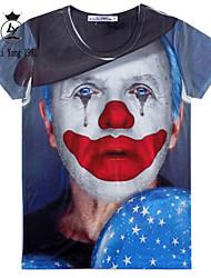 baratos -Homens Camiseta Estampado, 3D impressão Personagem