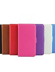 billige -Etui Til Nokia Lumia 630 / Nokia Etui Nokia Lommebok / Kortholder / med stativ Heldekkende etui Ensfarget Hard PU Leather til