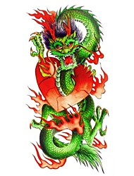 1pc New Chic Waterproof Temporary Tattoos Back/Arm/Leg Tattoos Flying Chinese Dragon Body Tattoos(18.5cm*8.5cm)