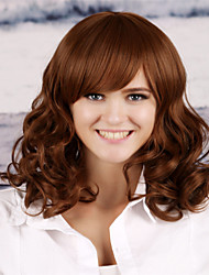cheap -Synthetic Wig Curly Layered Haircut Synthetic Hair Natural Hairline Dark Brown Wig Women's Long Capless
