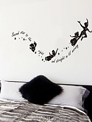 adesivos de parede decalques da parede, estrela Secord às palavras Inglês right& cita parede pvc adesivos