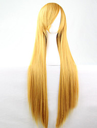cheap -Women Synthetic Wig Long Straight Yellow Costume Wig