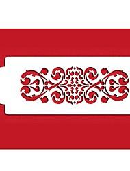 Недорогие -четыре с цветок трафарет для украшения торта сторона декора белого цвета ST-408