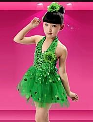 Shall We Latin Dance Dresses Children's Performance Sequins Dress