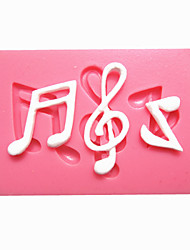 cheap -Music Notes Syncopated Sixteenth Note Fondant Cake Molds Chocolate Mould For The Kitchen Baking For Sugar Candy