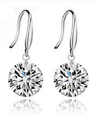 cheap -Women's Silver Drop Earrings With Diamond Classical Feminine Style