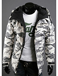 cheap -Men's Coats / Jackets Chic & Modern Jacket-Animal Fur Pattern