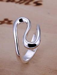 preiswerte -einfache s-Form 925 silberne Bandringe (1pc) klassischer weiblicher Stil