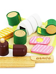 Недорогие -benho каучуковое дерево японская еда установить деревянную роль играет игрушку