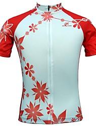 JESOCYCLING Maglia da ciclismo Per donna Manica corta Bicicletta Maglietta/Maglia Top Asciugatura rapida Traspirante Tasca posteriore