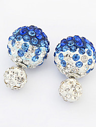 Women's Stud Earrings Fashion Costume Jewelry Rhinestone Alloy Jewelry For