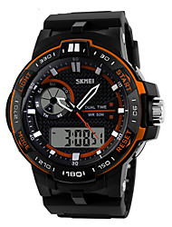 cheap -SKMEI® Men's Sporty Watch Analog-Digital Dual Time Zones Slide Rule/Calendar/Chronograph/Alarm Cool Watch Unique Watch