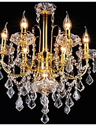 cheap -Traditional/Classic Crystal LED Chandelier Ambient Light For Living Room Bedroom Kitchen Dining Room Study Room/Office Hallway Garage