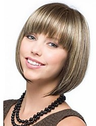 cheap -Women Synthetic Wig Short Light Blonde Bob Haircut With Bangs Costume Wigs Costume Wigs