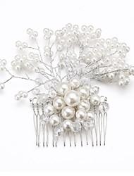 povoljno -Žene Prodavačica cvijeća Kristal Legura Imitacija Pearl Glava-Vjenčanje Special Occasion Kosa Combs Cvijeće