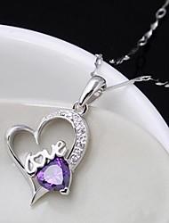 Недорогие -Женские/Жен. - Ожерелье (Чистое серебро , Фиолетовый/Белый