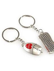 economico -Mouse keybord matrimonio romantico portachiavi portachiavi per il giorno di San Valentino l'amante (una coppia)