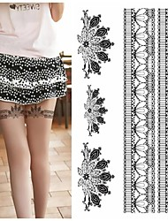 cheap -Legs Sexy Silk Stockings Feather Peacock Fan Tattoo Stickers Temporary Tattoos(1 pc)