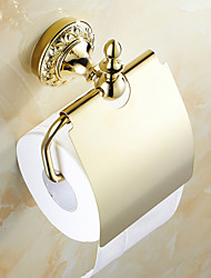 cheap -Toilet Paper Holder Neoclassical Brass 1 pc - Hotel bath