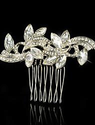 cheap -Wedding Party Bridal Bridesmaid Crystal Pearls Bridal Horse Eye Hair Comb