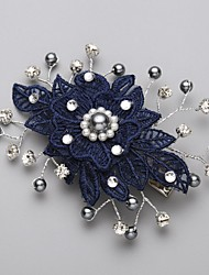 cheap -Imitation Pearl Cubic Zirconia Lace Alloy Hair Combs Flowers Headpiece