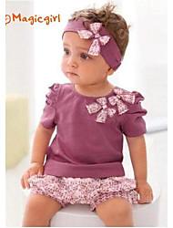 Mädchen Kleidungs Set Blumen Baumwolle Sommer