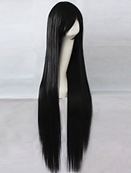 cheap -Synthetic Wig Straight Asymmetrical Haircut Synthetic Hair Natural Hairline Black Wig Women's Long Capless