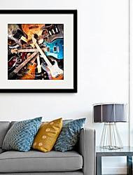 Музыка Холст в раме / Набор в раме Wall Art,ПВХ Черный Коврик входит в комплект с рамкой Wall Art