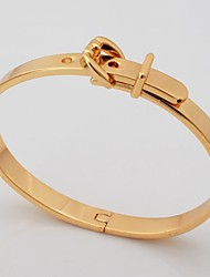 cheap -U7® Cool Belt Bracelet 18K Gold Plated 2 Colors Chunky Bangle for Men Fashion Jewelry