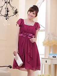 economico -vestito chiffon dalla damigella d'onore di lunghezza del ginocchio della principessa del neckline dalla moda di hua cheng