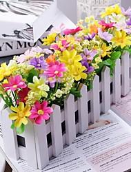 economico -decorazioni di nozze di seta di plastica del legno ricevimento di tema floreale di tema floreale