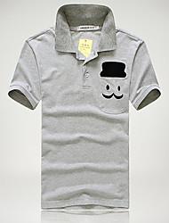 economico -MEN - T-shirt - Informale Quadrato - Maniche corte Cotone organicp